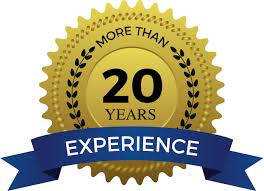 More than 20 years experience